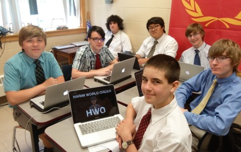 Ninth-grade students in Rectory's first-ever Coding Class taught by Mr. Kakas.
