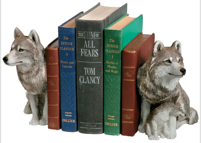 Sandicast® Wolf Bookends Set