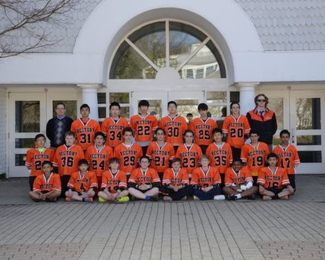 The 2016 Rectory Boys' JV Lacrosse Team with Coaches Long and Fuller.