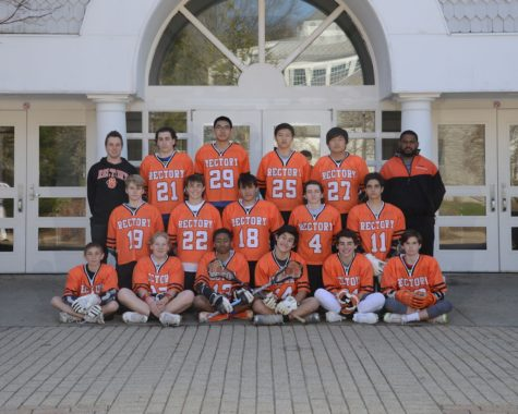 The 2016 Rectory Boys' Varsity Lacrosse Team with Coaches Smith and Ducksworth.