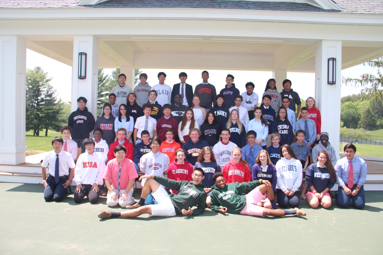 The annual ninth-grade sweatshirt photo for the graduates from The Class of 2016.