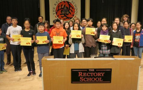 Mr. Zerpa and Mrs. Grudzinski presented each student who had participated in the Mid-Week Pawse events with a certificate of appreciation at the morning assembly on Tuesday, Nov., 22nd.