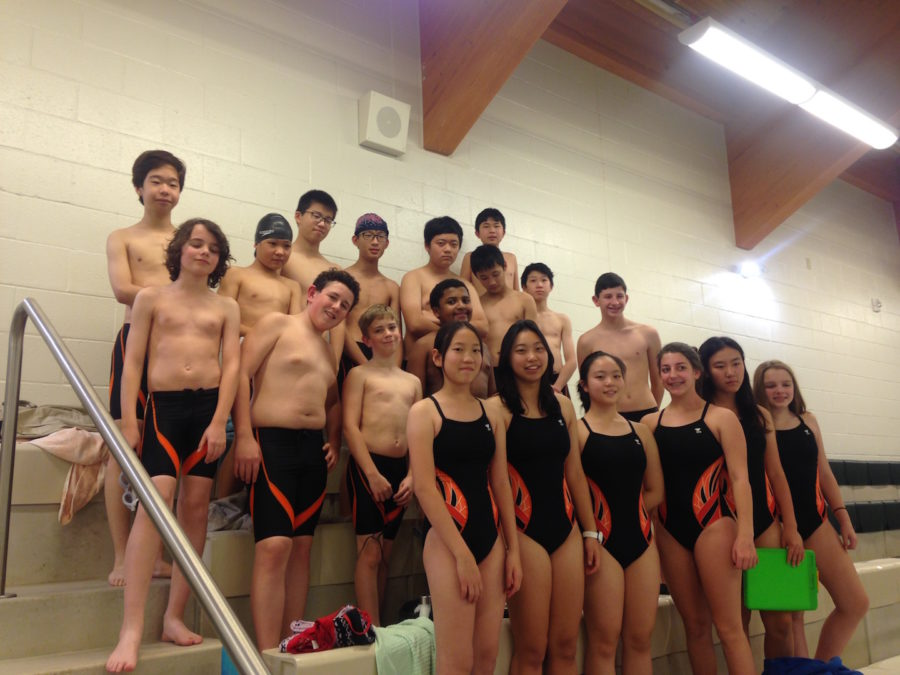 Rectory%27s+first+ever+Swim+Team+at+Eagle+Hill+School+for+their+first+swim+meet.