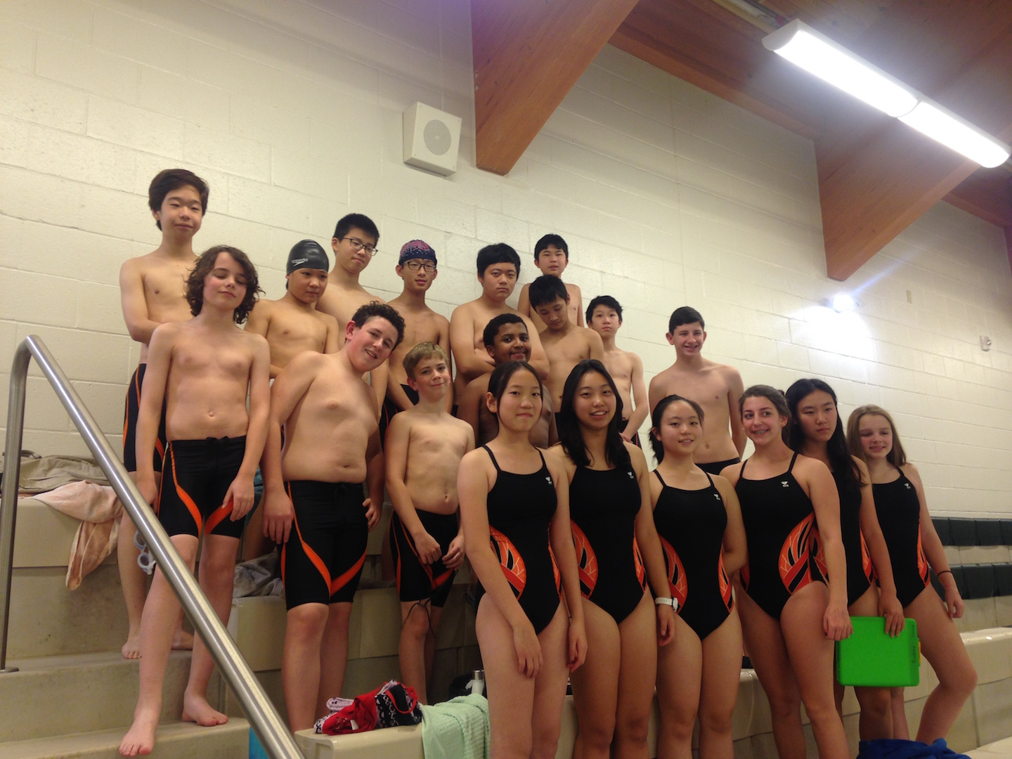 Rectory's first ever Swim Team at Eagle Hill School for their first swim meet.