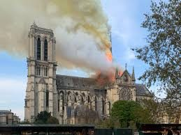 Notre-Dame Cathedral de Paris Damaged By Raging Fire