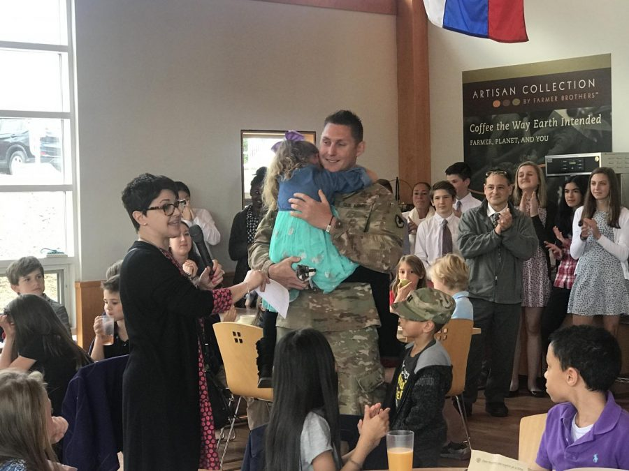 Rectory First Grader Gets Surprise Visit From Military Dad