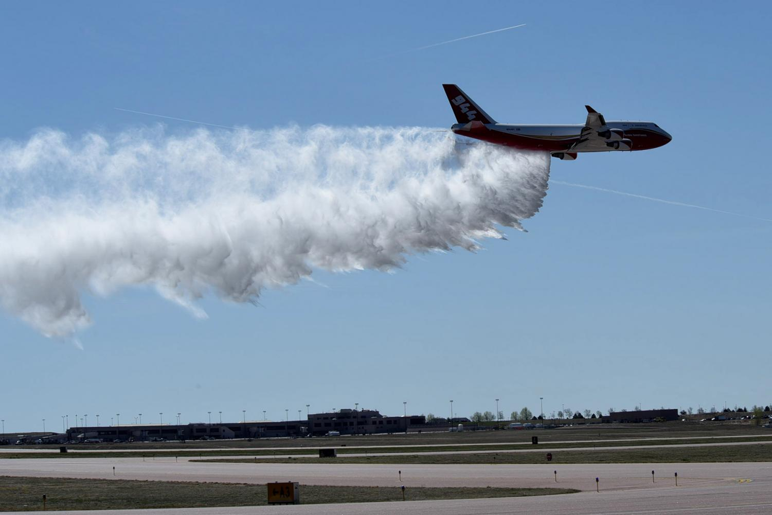 The Firefighting-Supertanker Airplane that can drop up to 19,000 gallons of fire retardant in one trip.