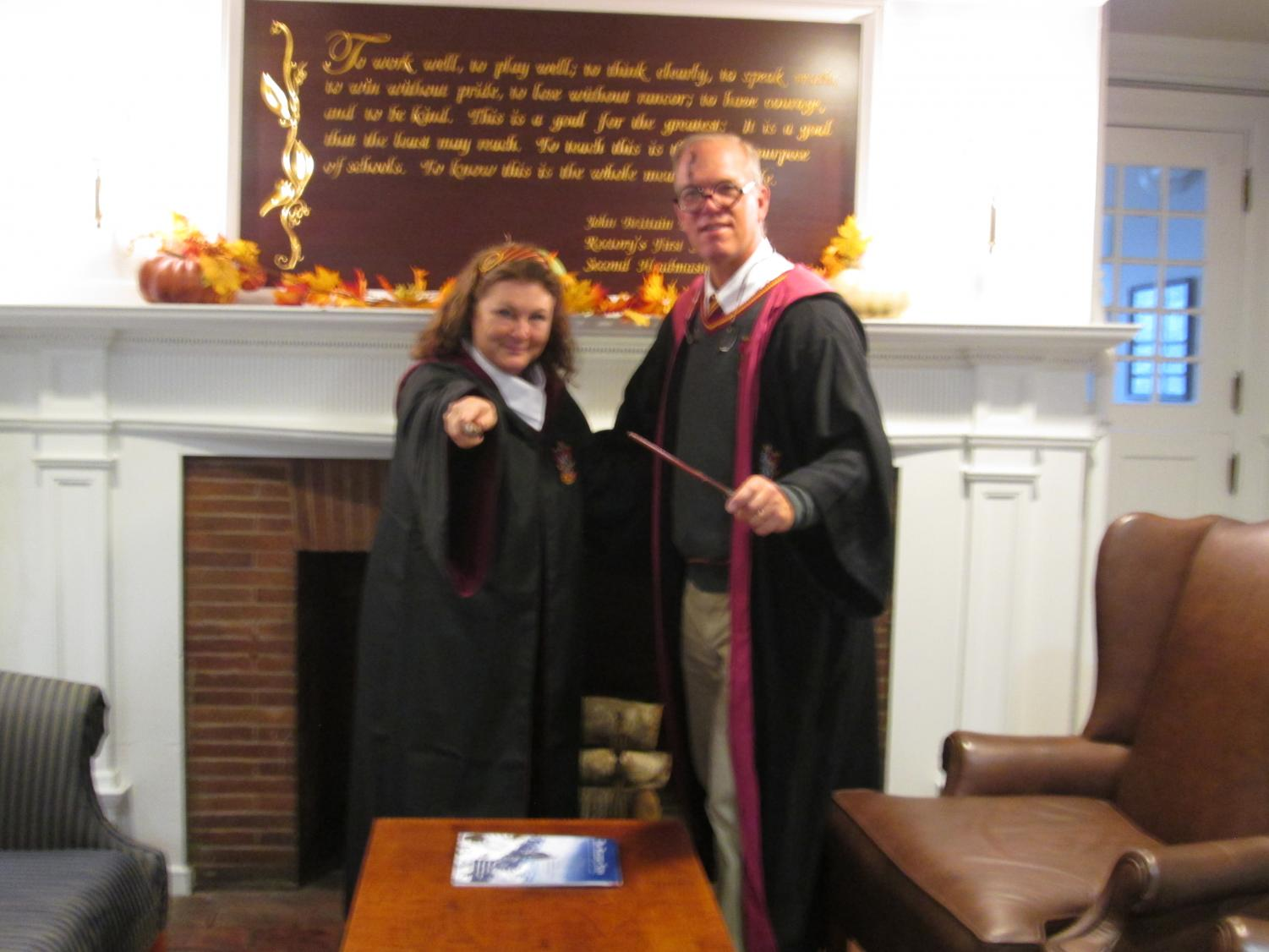 Even our Headmaster, Mr. Williams, and his wife, Marcia, dressed in creative costumes on Halloween Day!