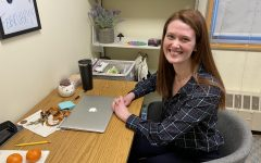 Ms. Sarah Maley, Rectory's new School Counselor, in her office in the Academic Building.