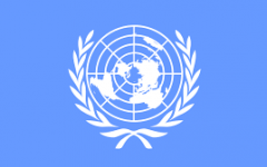 Flag of the United Nations in New York, NY.