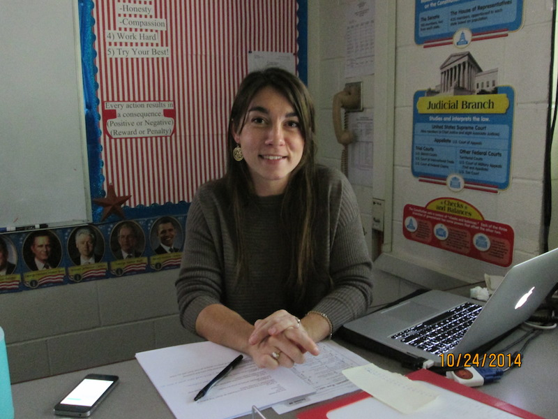 Ms. Hunt, one of our new English teachers and dorm parents of Dining Dorm.