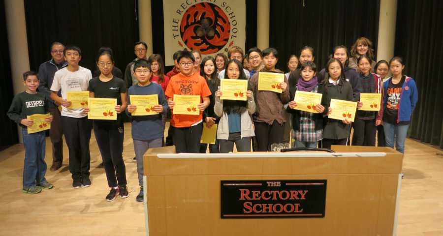 Mr.+Zerpa+and+Mrs.+Grudzinski+presented+each+student+who+had+participated+in+the+Mid-Week+Pawse+events+with+a+certificate+of+appreciation+at+the+morning+assembly+on+Tuesday%2C+Nov.%2C+22nd.