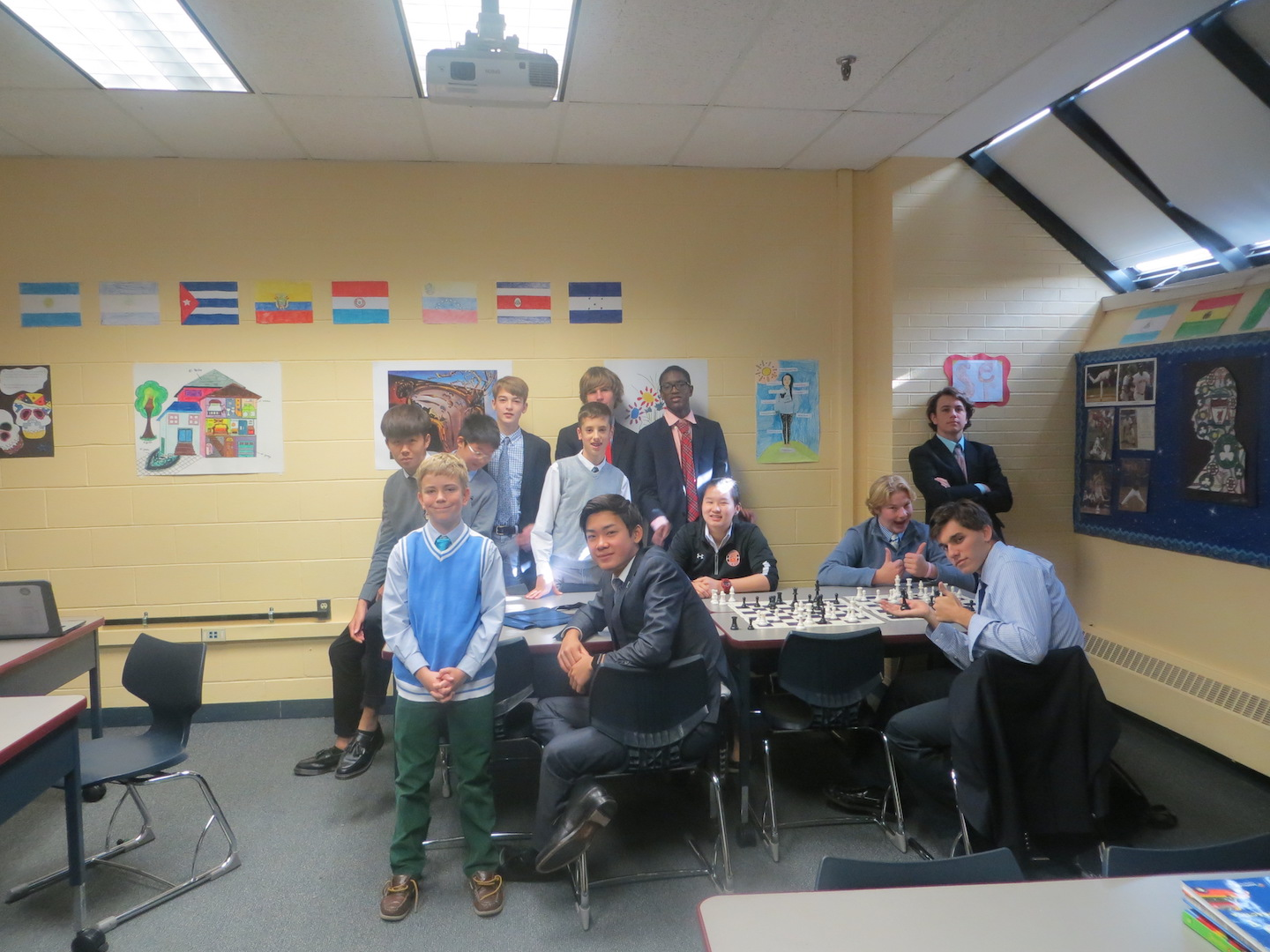 Members of Rectory's fall term (2016-17) Chess Elective led by Mr. Zerpa and Mr. Ames.