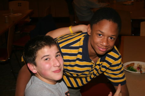 Mr. Gray as a student at Rectory with one of his classmates.