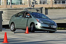A Toyota Prius modified by Google to operate as a driverless car. (wikipedia.com)