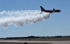A U.S. Firefighting Supertanker Aids in the Amazon Fires