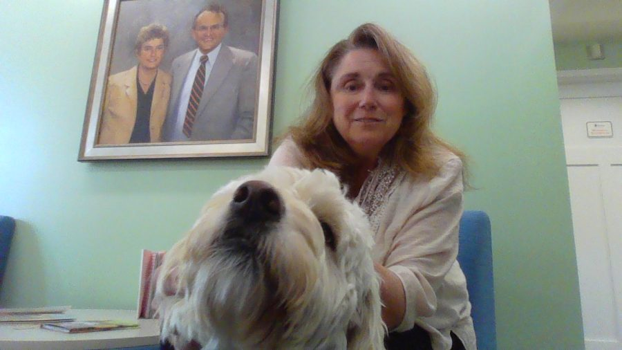 Rectory%27s+new+IIP+tutor%2C+Ms.+Miller%2C+with+her+therapy+dog%2C+Lucy.