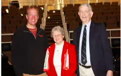 Mr. Williams with George and Sandra Groom in January, 2010.